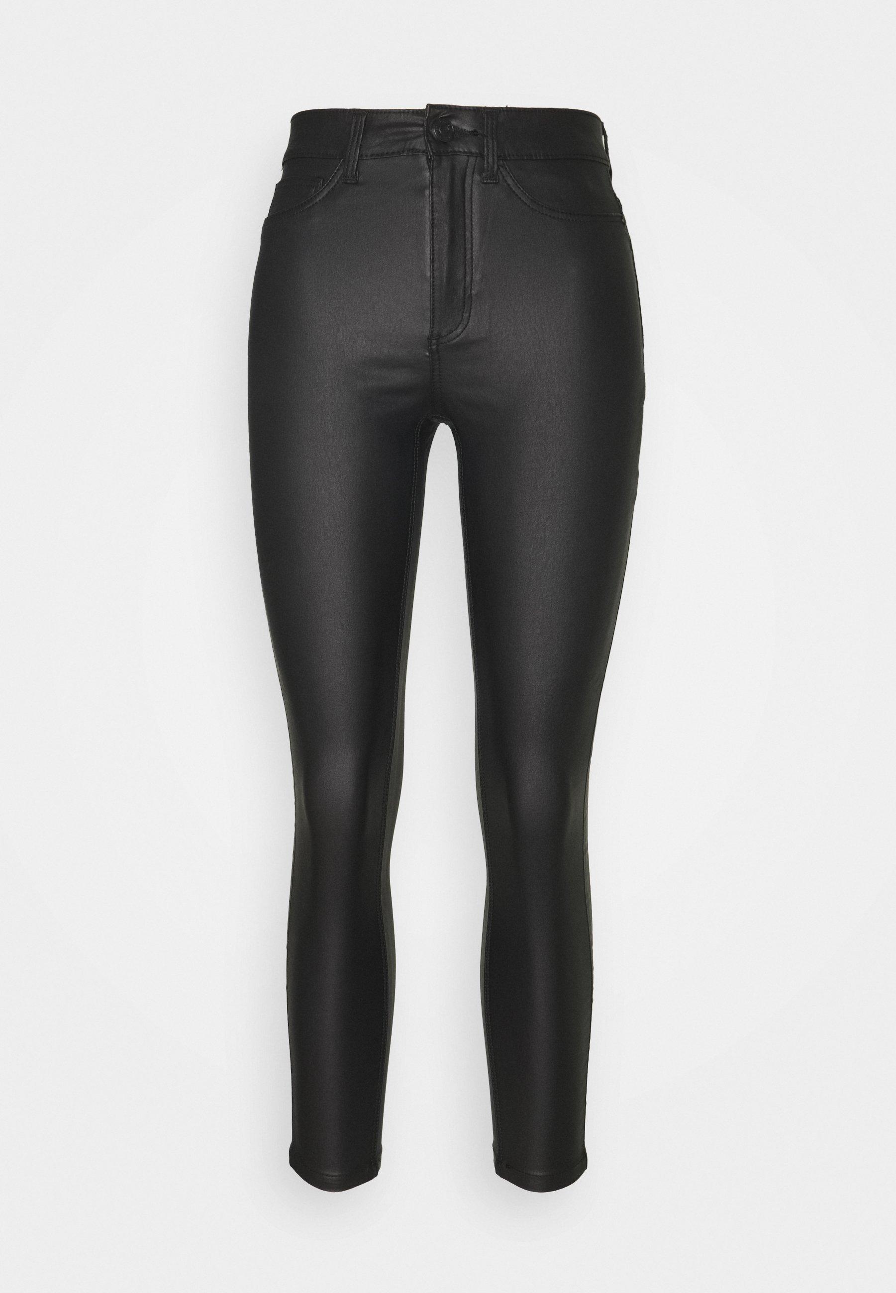 Donna NMCALLIE COATED PANTS - Pantaloni
