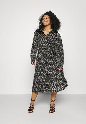 COLLIA SHIRT DRESS - Shirt dress - black/sand