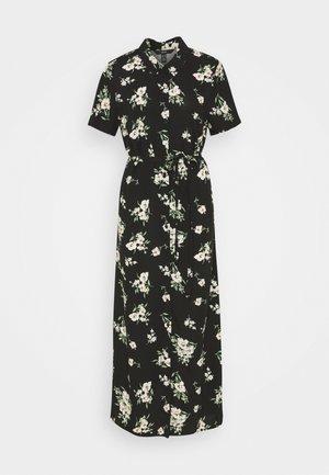 VMSIMPLY EASY LONG SHIRT DRESS - Maxiklänning - black/sandy black