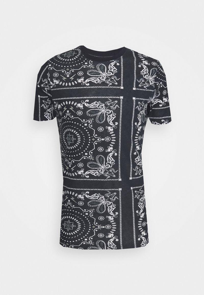 Brave Soul - FENDER - Print T-shirt - rich navy/optic white/grey