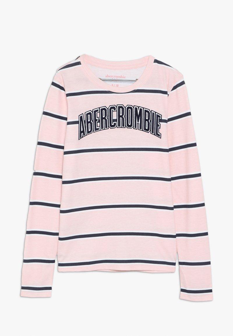 Abercrombie & Fitch - LOGO PATTERN CREW - Langærmede T-shirts - pink