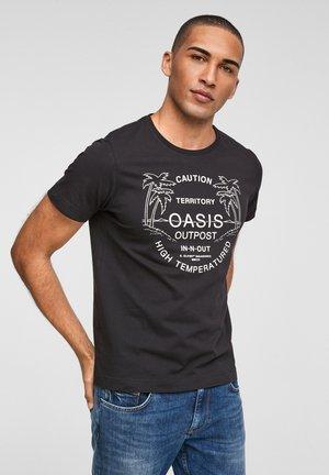 MIT SCHRIFTPRINT - Print T-shirt - black