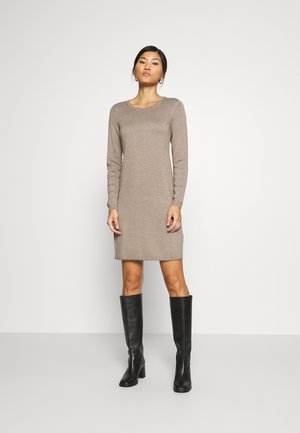 DRESS - Jumper dress - taupe