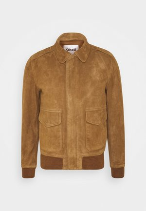 KANSAS  - Leather jacket - rust