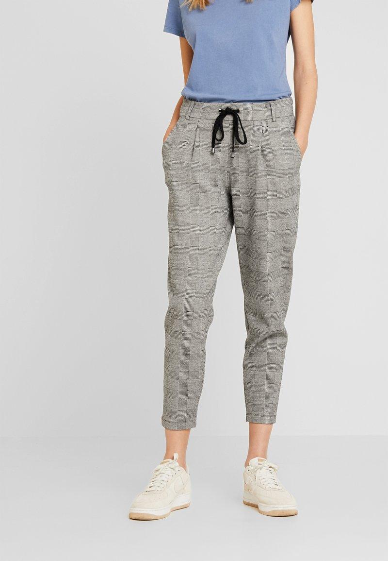edc by Esprit - CHECK PANT - Spodnie treningowe - black