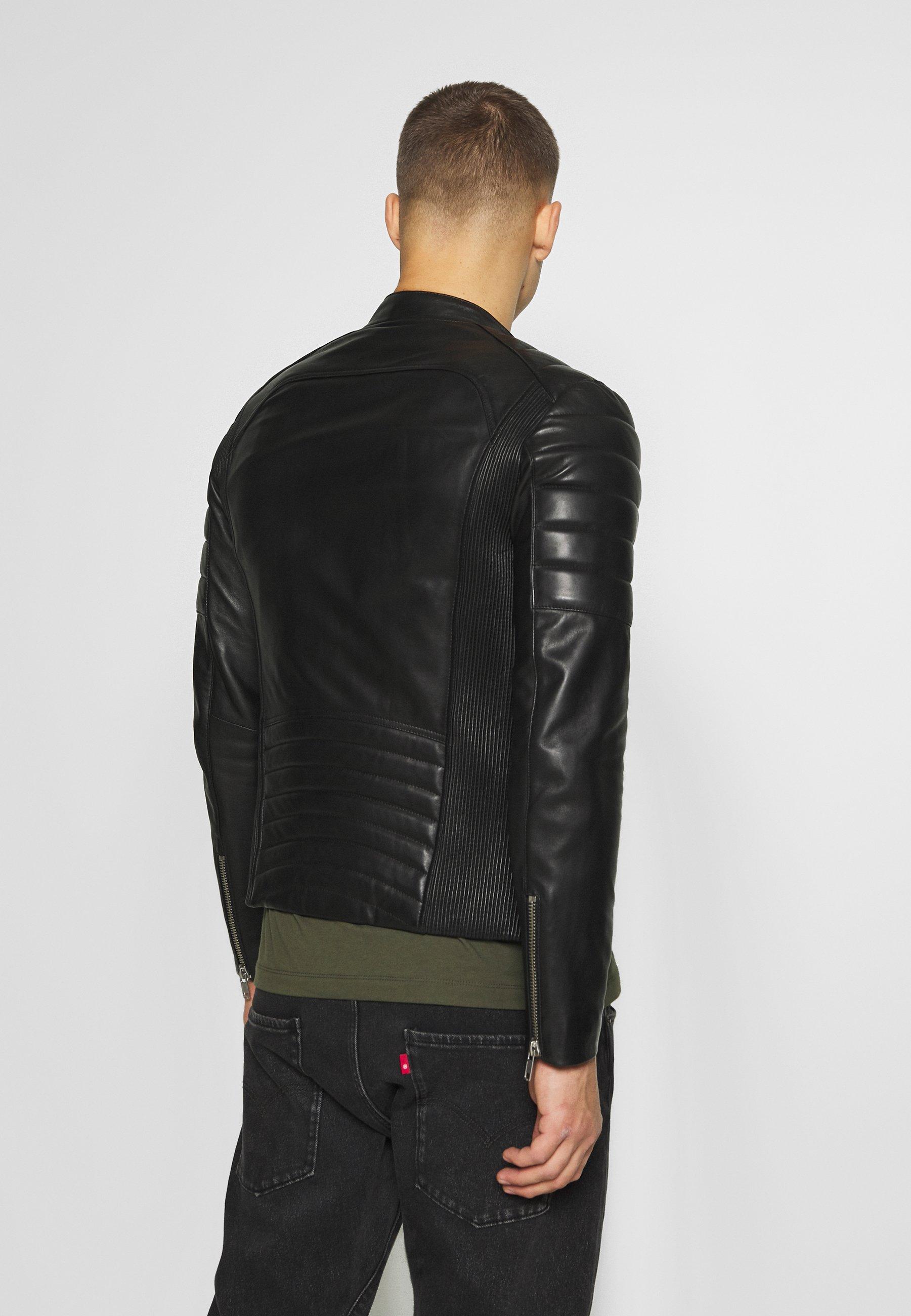 Big Sale Wholesale Serge Pariente GLADIATOR - Leather jacket - black   men's clothing 2020 M7ZOO
