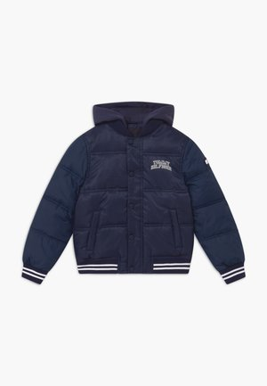 HOODED PADDED QUILTED - Talvitakki - blue
