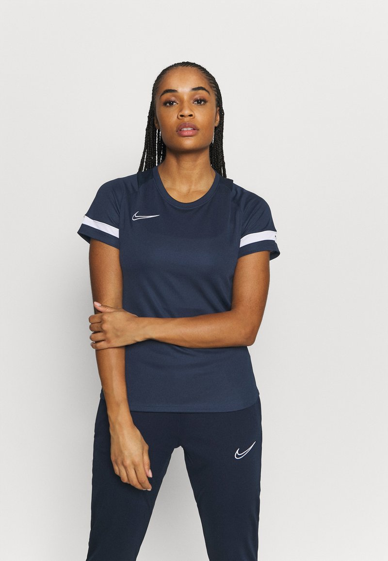 Nike Performance - T-shirt con stampa - obsidian/white