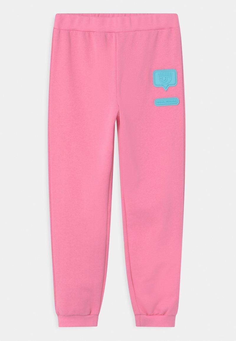 CHIARA FERRAGNI - PATCH  - Tracksuit bottoms - sachet pink