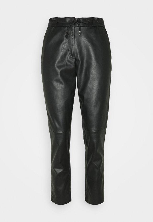 LOOSE FIT PANT - Spodnie materiałowe - deep black