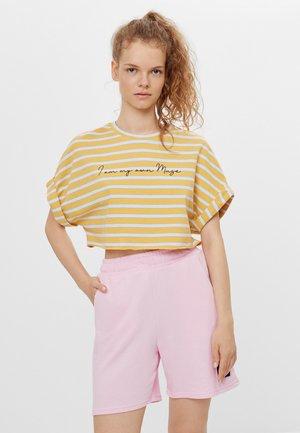 Print T-shirt - mustard yellow