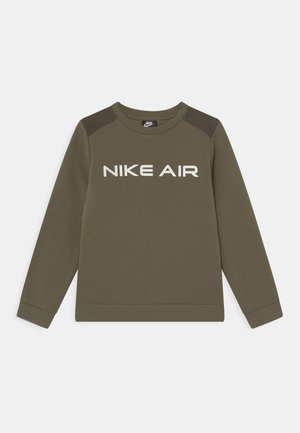 AIR CREW - Sudadera - medium olive/cargo khaki/white