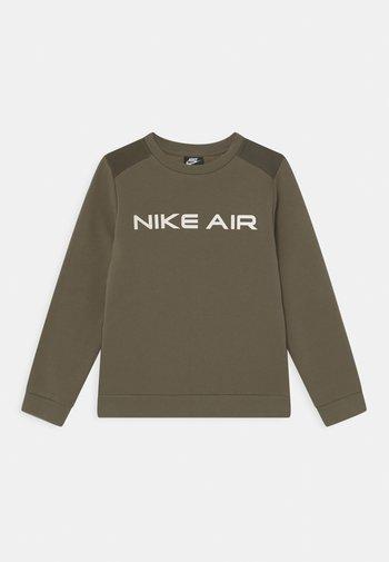 AIR CREW - Felpa - medium olive/cargo khaki/white