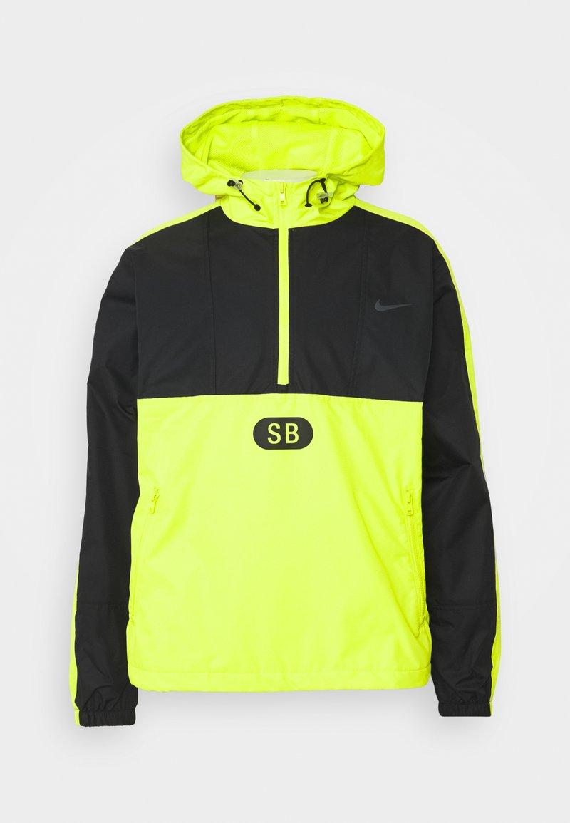 Nike SB - ANORAK UNISEX - Veste coupe-vent - black/cyber/black/anthracite