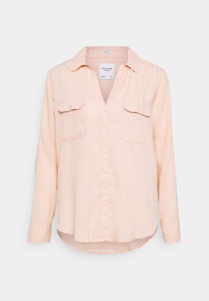 ASIA UTILITY - Button-down blouse - bright peach