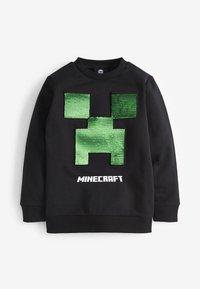 Next - MINECRAFT SEQUIN CREW NECK SWEATER - Sweatshirt - black - 1