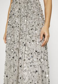 Maya Deluxe - ALL OVER EMBELLISHED BANDEAU MAXI - Occasion wear - soft grey - 4