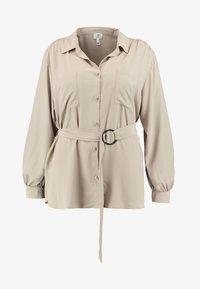 River Island Plus - Button-down blouse - mink - 4
