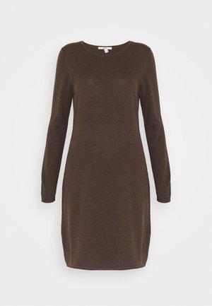 DRESS - Jumper dress - dark brown