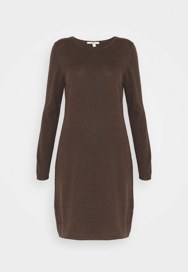 DRESS - Jumper dress - dark brown