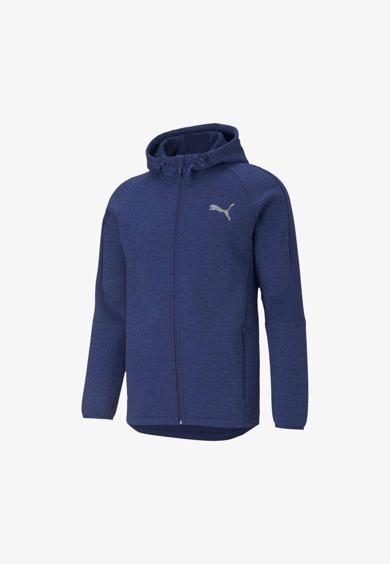 Puma - EVOSTRIPE  - veste en sweat zippée - elektro blue