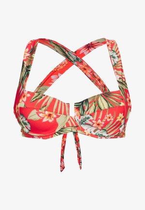 BALCO WAIMEA - Bikini top - rouge waimea