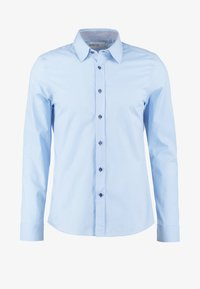 Pier One - CONTRAST BUTTON SLIMFIT - Overhemd - light blue/blue - 5