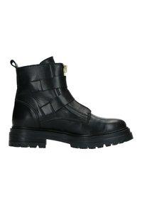 Manfield - MIT GOLDENEN SCHNALLEN UND REISSVERSCHLUSS - Cowboy/biker ankle boot - schwarz - 4