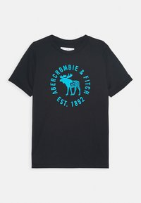 Abercrombie & Fitch - HIKE BEAST TECH LOGO  - Print T-shirt - black - 0