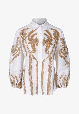 Skjorte - caramel embroidery