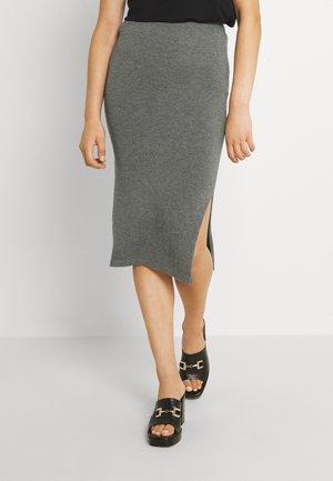 VIPILLA SLIT KNIT SKIRT - Pencil skirt - mottled grey