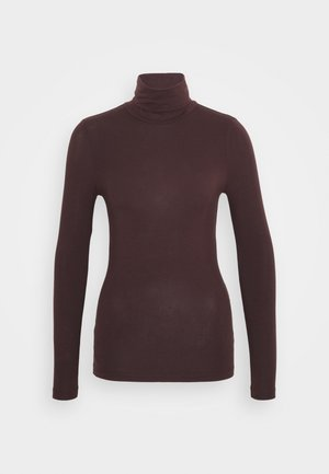 VMAVA LULU ROLLNECK BLOUSE - Long sleeved top - chocolate plum