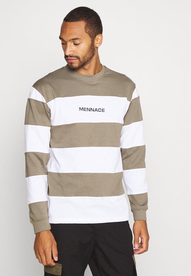 PANELLED STRIPE - Långärmad tröja - khaki