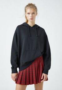 PULL&BEAR - Pleated skirt - mottled red - 3