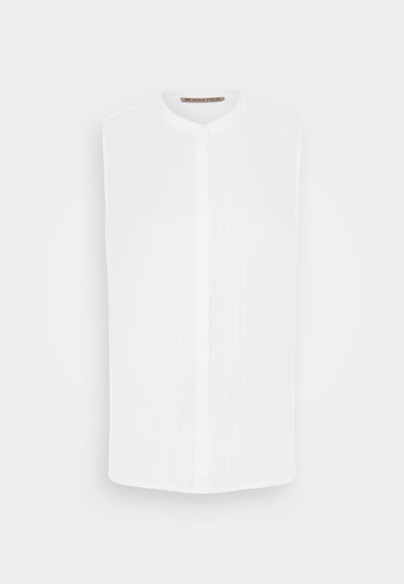 Anna Field - Sleeveless Blouse with gathers - Blouse - white