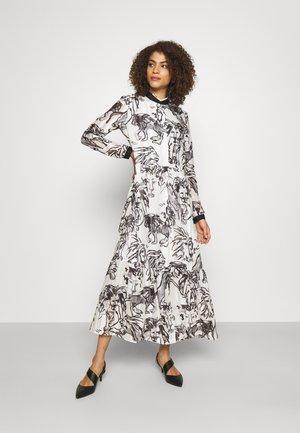 Vestito lungo - white/black