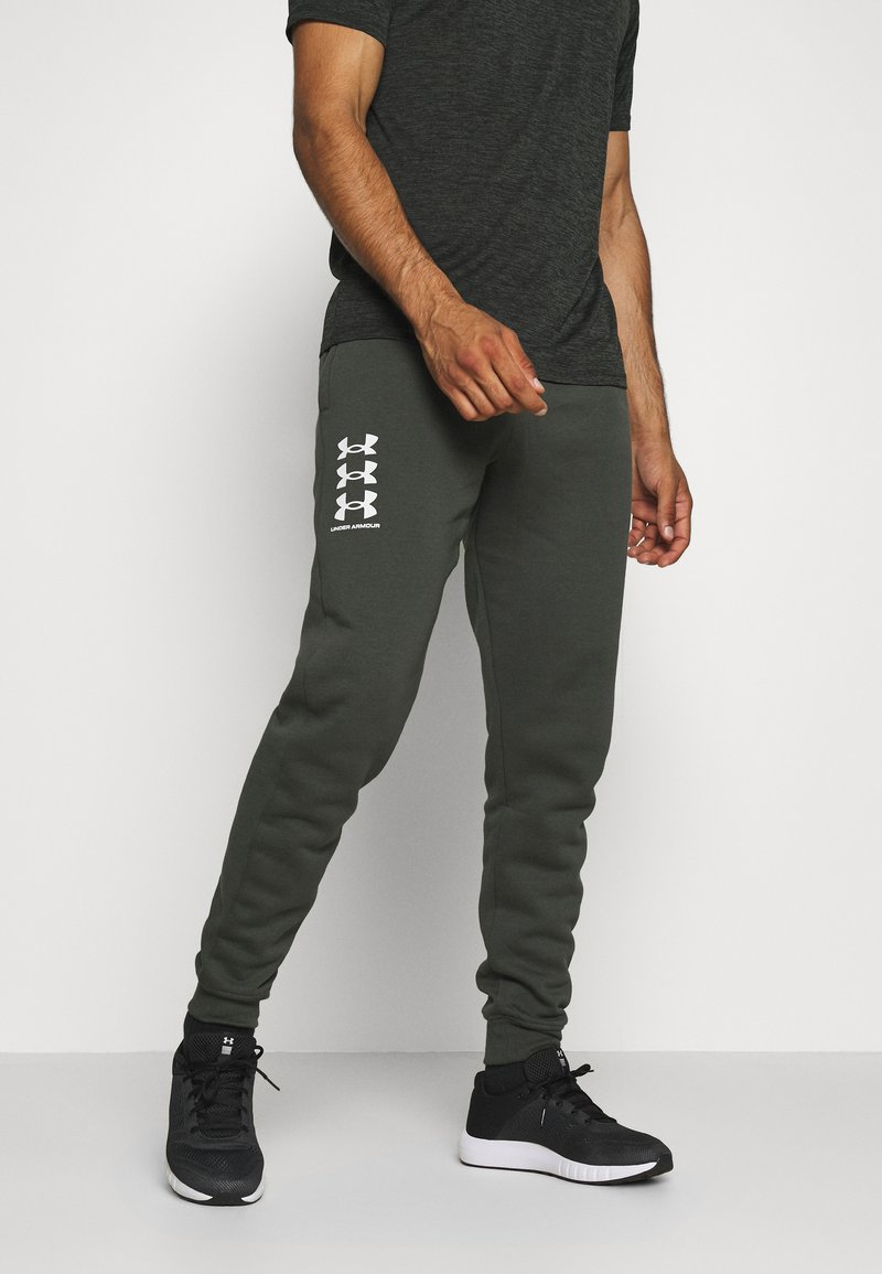 Under Armour - RIVAL MULTILOGO - Joggebukse - baroque green