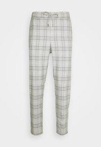 Only & Sons - ONSLINUS CROPPED  CHECK PANT - Spodnie materiałowe - medium grey melange - 3