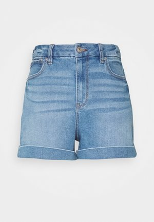 CURVY MOM - Jeans Short / cowboy shorts - medium tinted indigo