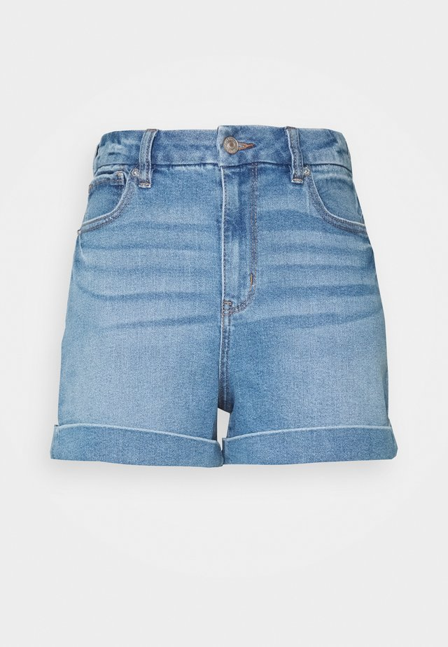 CURVY MOM - Jeans Shorts - medium tinted indigo