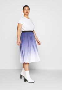 MY TRUE ME TOM TAILOR - PLEATED MIDI SKIRT - A-line skirt - real navy blue - 3