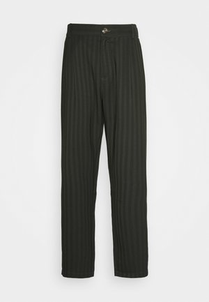 TROUSERS - Trousers - green stripe