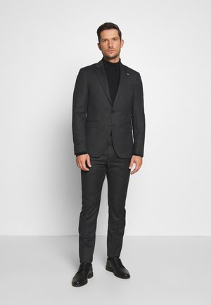 MACRO STRUCTURED SLIM FIT SUIT - Garnitur - black