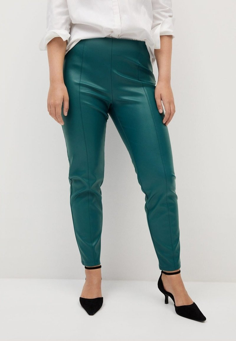 Violeta by Mango - POLI - Leggings - Trousers - dark green