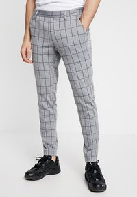 Only & Sons - ONSCARL CHECK - Trousers - light grey melange - 0