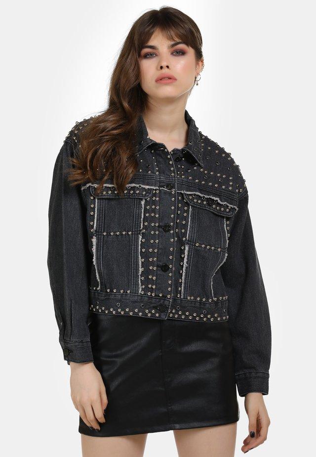 Giacca di jeans - schwarz