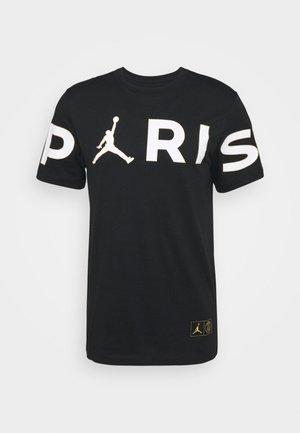 PARIS ST GERMAIN WORDMARK TEE - Print T-shirt - black