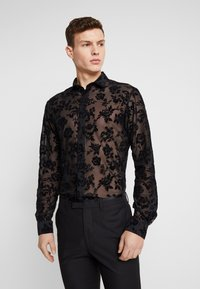 Twisted Tailor - KASH FLORAL SHIRT - Košile - black - 0