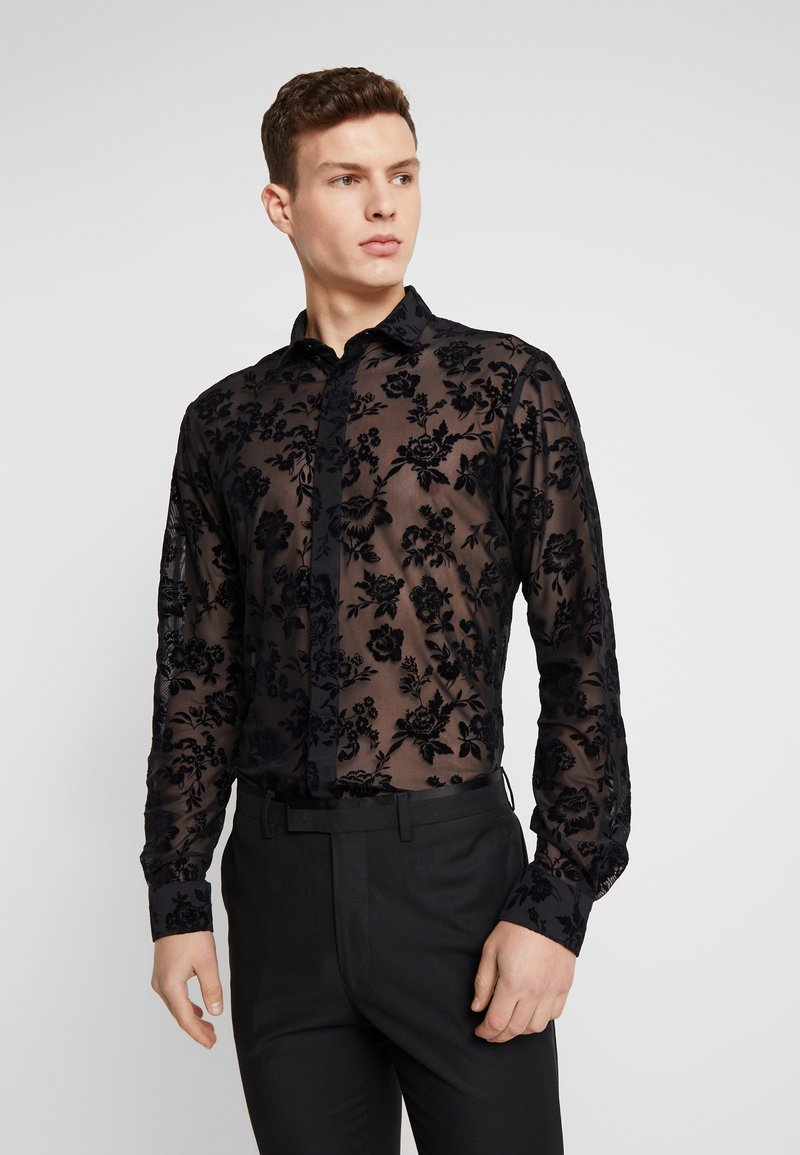 Twisted Tailor - KASH FLORAL SHIRT - Košile - black