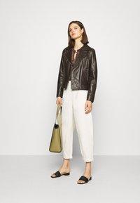 Oakwood - MARJORY - Leather jacket - dark brown - 1